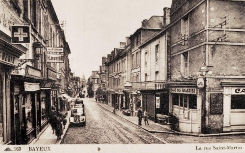 Bayeux calvados la rue saint martin cpa