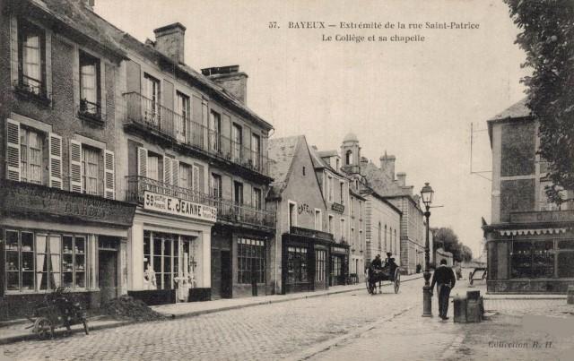 Bayeux calvados la rue saint patrice cpa