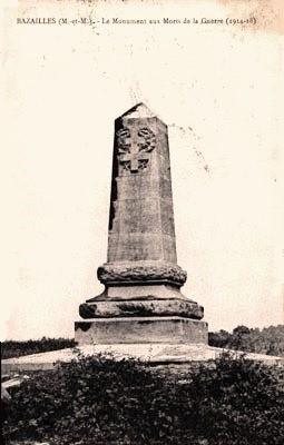 Bazailles 54 monuments aux morts cpa