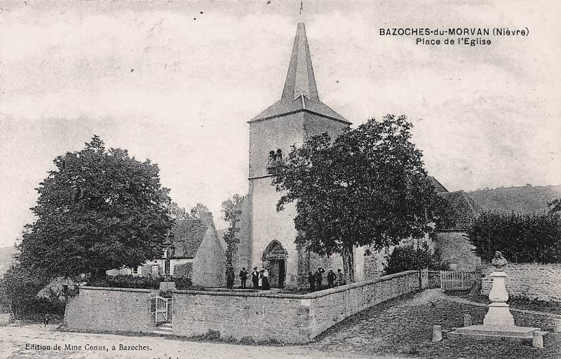 Bazoches (Nièvre) L'église Saint-Hilaire CPA