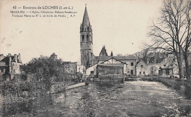 Beaulieu-lès-Loches (37) Ruines de l'Abbaye de la Trinité CPA