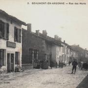 Beaumont-en-Argonne (08) Rue des morts CPA