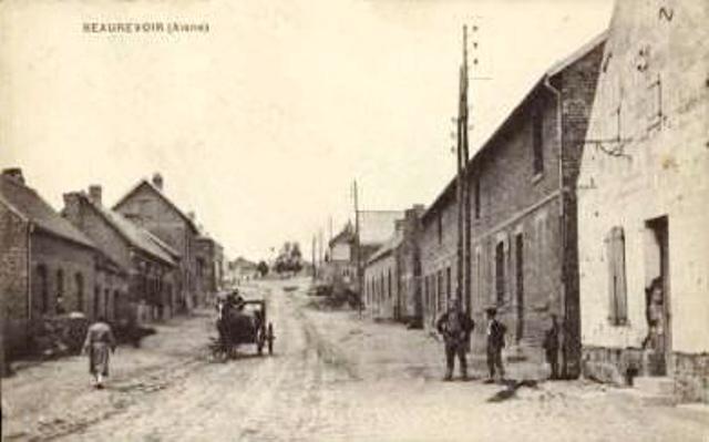Beaurevoir aisne cpa rue henri martin