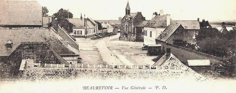 Beaurevoir aisne cpa vue generale 1904