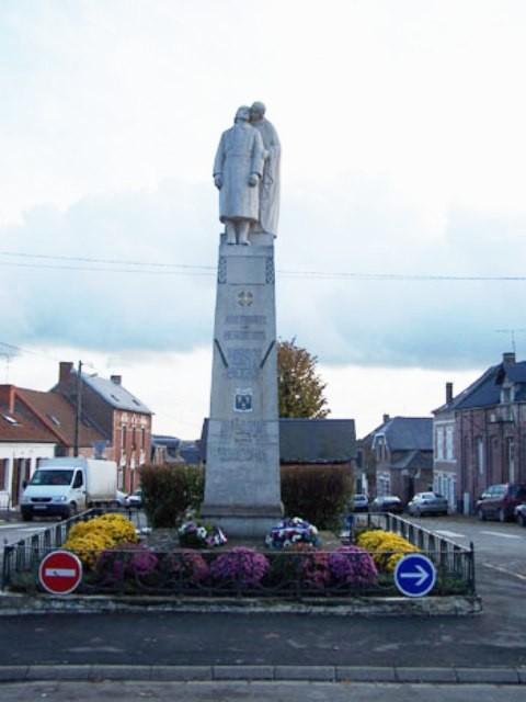 Beaurevoir aisne monuments aux morts