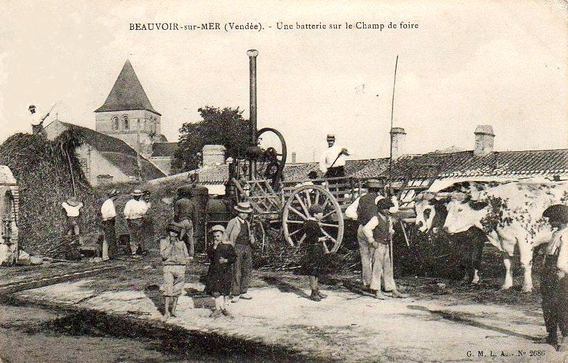 Beauvoir-sur-Mer (Vendée) Champ de foires CPA