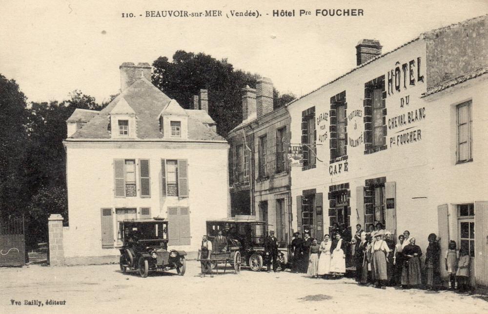 Beauvoir-sur-Mer (Vendée) Hôtel du Cheval Blanc CPA