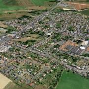 Beauvois en cambresis 59 vue satellite