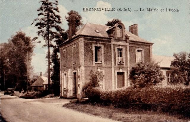 Bermonville seine maritime la mairie ecole cpa