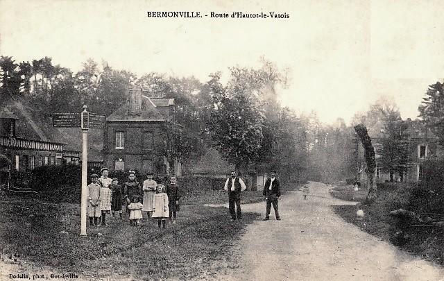 Bermonville seine maritime la route d hautot cpa