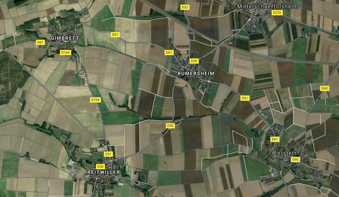 Berstett 67 plan des 4 villages