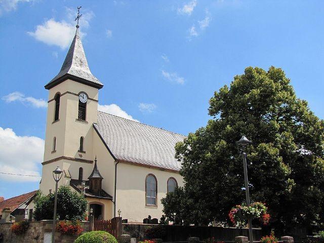 Berstett 67 rumersheim l eglise catholique saint georges