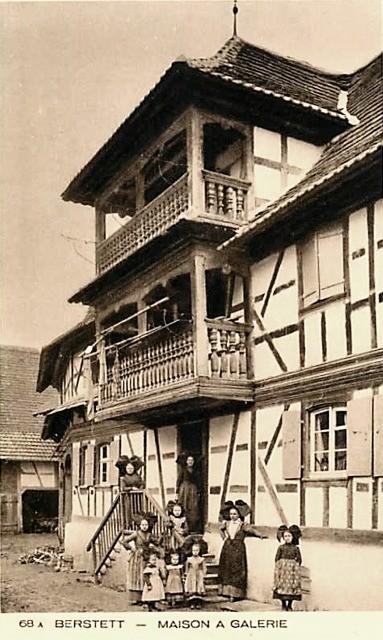 Berstett 67 une maison alsacienne cpa