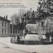 Besançon (Doubs) L'avenue de l'Elvétie CPA