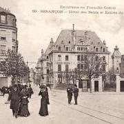 Besançon (Doubs) L'Hôtel des Bains et le Casino CPA