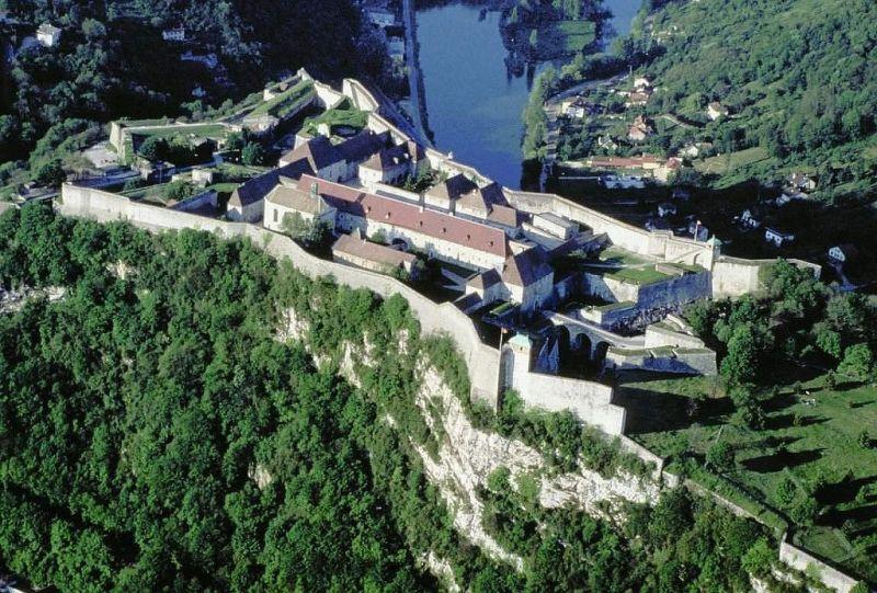 Besançon (Doubs) La citadelle, vue aérienne