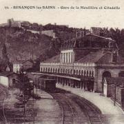 Besançon (Doubs) La gare de la Mouillère et la citadelle CPA