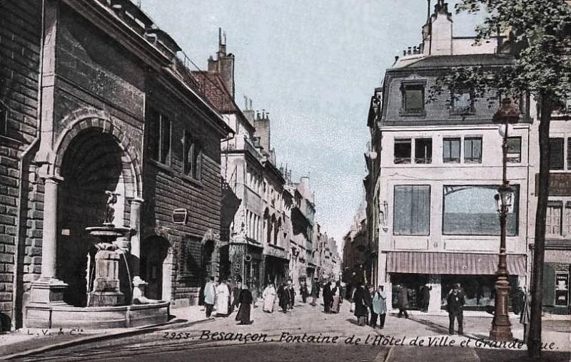 Besançon (Doubs) La grande rue CPA