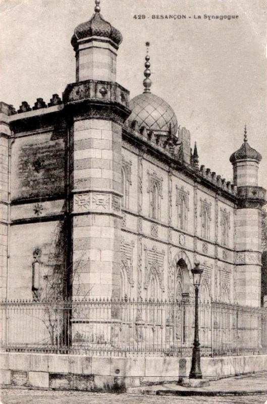 Besançon (Doubs) La synagogue CPA