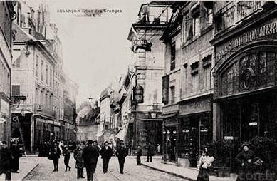 Besançon (Doubs) Le Café du commerce CPA
