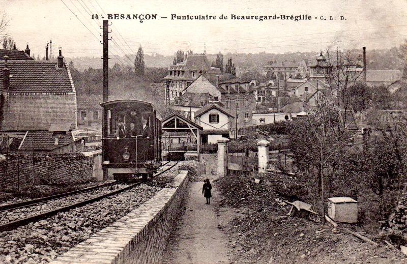 Besançon (Doubs) Le funiculaire Beauregard-Bregille CPA
