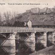 Besançon (Doubs) Le pont de Bregille et le fort de Beauregard CPA