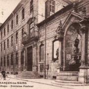 Besançon (Doubs) Lycée Victor Hugo et fontaine Pasteur CPA
