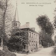Beuzeville la guerard seine maritime l entree du village cpa