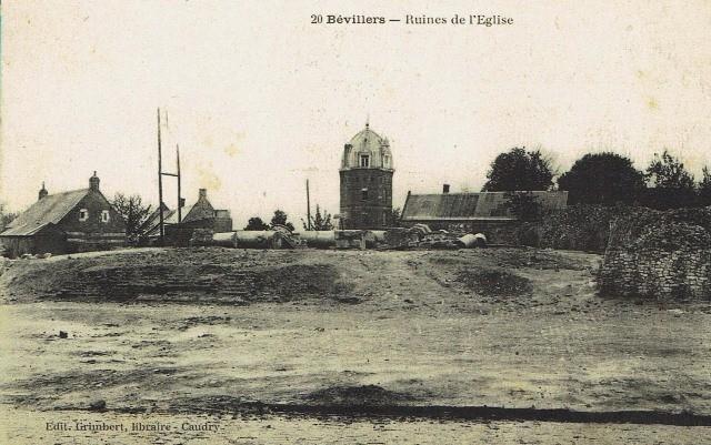 Bevillers 59 l eglise en ruines cpa