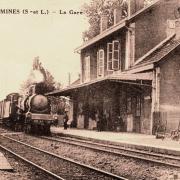 Blanzy (Saône-et-Loire) La Gare CPA
