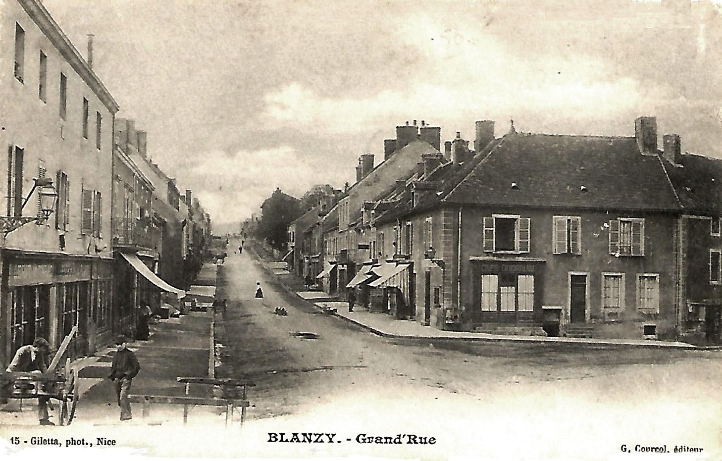 Blanzy (Saône-et-Loire) La Grande rue CPA