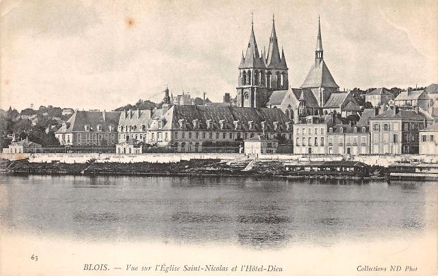 Blois (41) Eglise Saint-Nicolas CPA