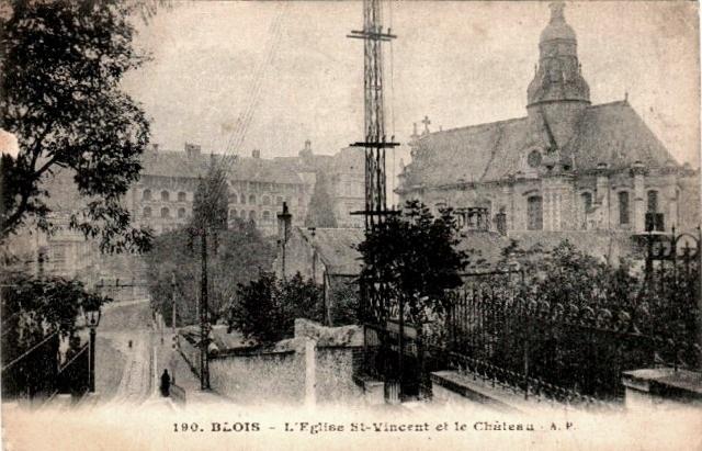 Blois (41) Eglise Saint-Vincent CPA