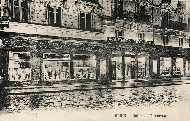 Blois (41) Galeries Modernes CPA