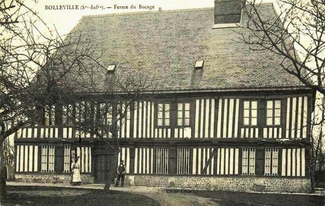 Bolleville seine maritime ferme du bocage cpa