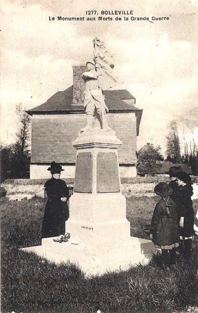 Bolleville seine maritime monument aux morts cpa