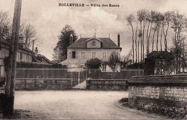 Bolleville seine maritime villa des roses en 1930 cpa