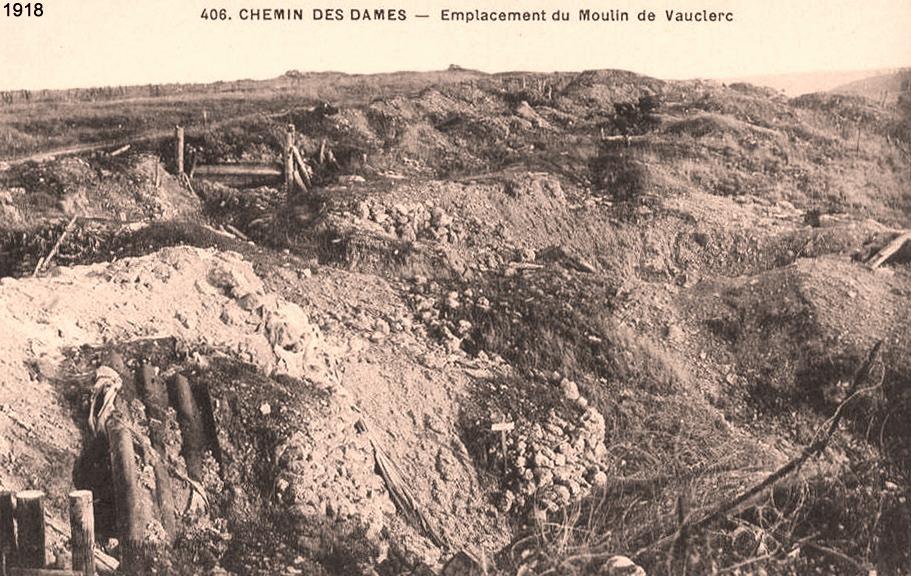 Bouconville-Vauclair (Aisne) CPA emplacement du moulin