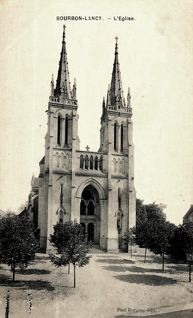 Bourbon-Lancy (Saône-et-Loire) L'Eglise CPA