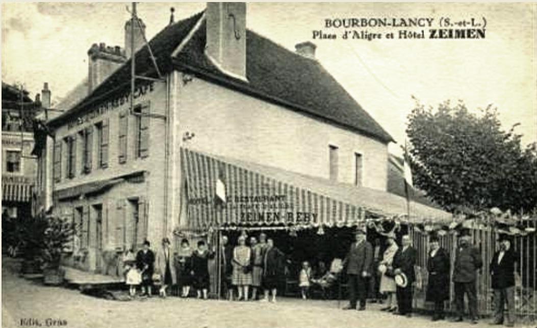 Bourbon-Lancy (Saône-et-Loire) L'Hôtel Zeimen CPA