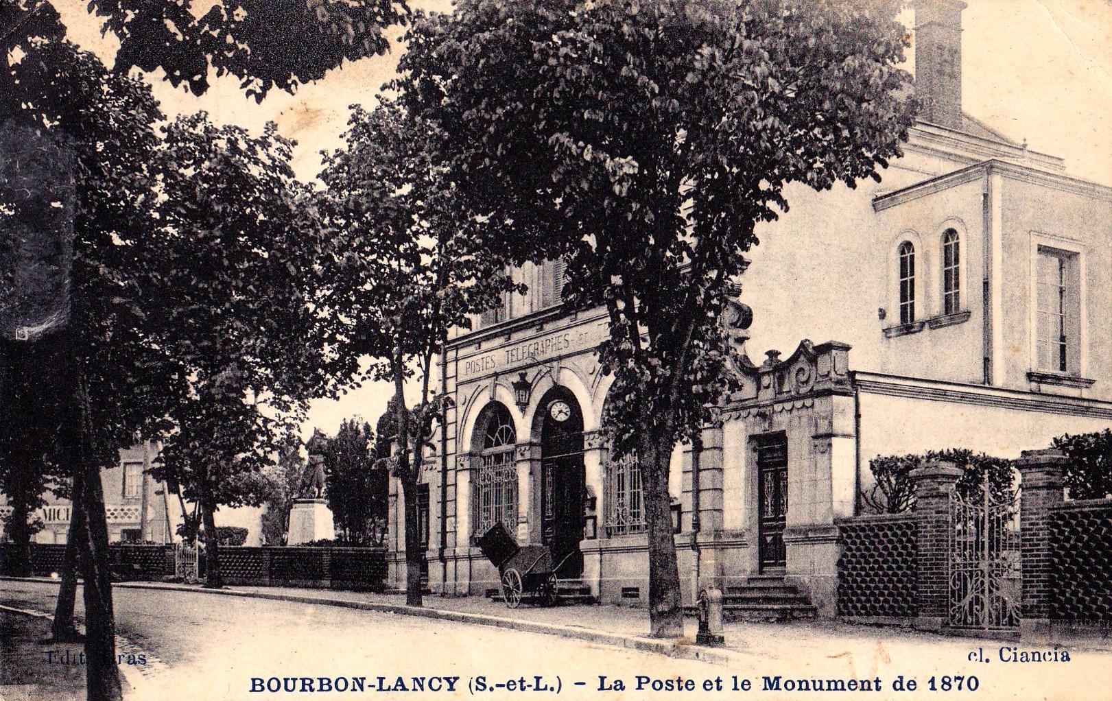 Bourbon-Lancy (Saône-et-Loire) La Poste CPA