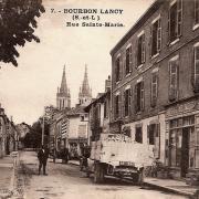 Bourbon-Lancy (Saône-et-Loire) La rue Sainte Marie CPA