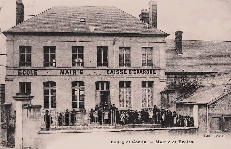 Bourg-et-Comin (Aisne) CPA Ecole