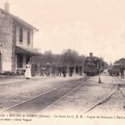 Bourg-et-Comin (Aisne) CPA Gare