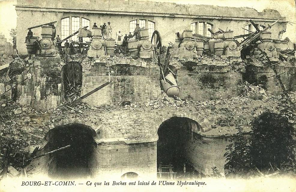 Bourg-et-Comin (Aisne) CPA L'usine hydraulique