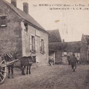 Bourg-et-Comin (Aisne) CPA La place en 1918