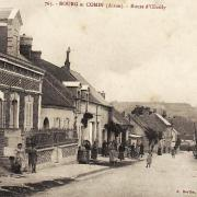 Bourg-et-Comin (Aisne) CPA Route d'Oeuilly