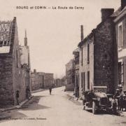 Bourg-et-Comin (Aisne) CPA Route de Cerny