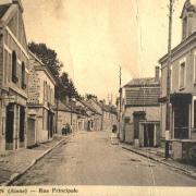 Bourg-et-Comin (Aisne) CPA Rue principale