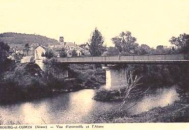 Bourg-et-Comin (Aisne) CPA vue générale